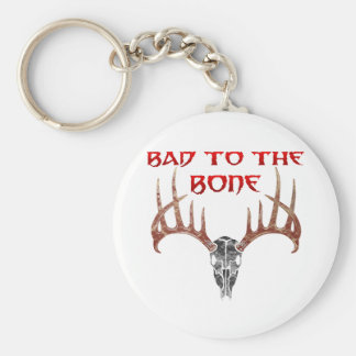 Bad to the bone key ring