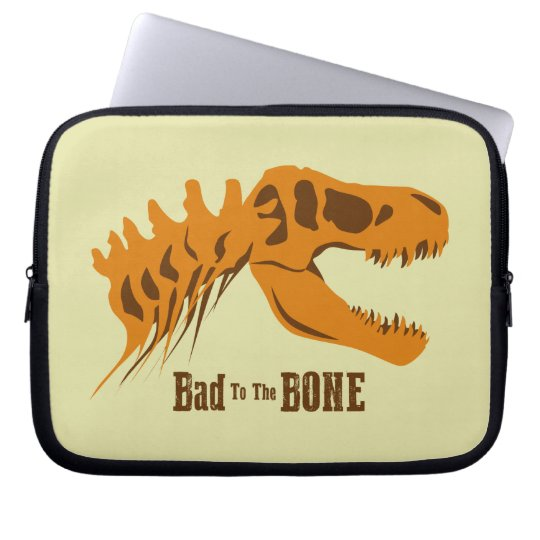 Bad to the Bone Laptop Computer Sleeve