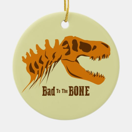 Bad to the Bone Round Ceramic Decoration