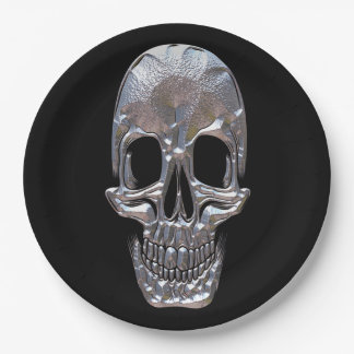 Bad to the Bone Skull  Party Plates 9 Inch Paper Plate
