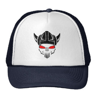 bad to the bone skull viking helmet hat design