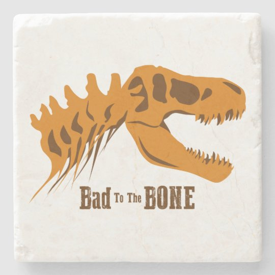Bad to the Bone Stone Beverage Coaster