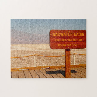 Bad Water Basin Nevada. Jigsaw Puzzle