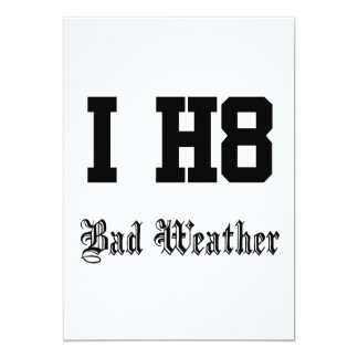 Bad weather card