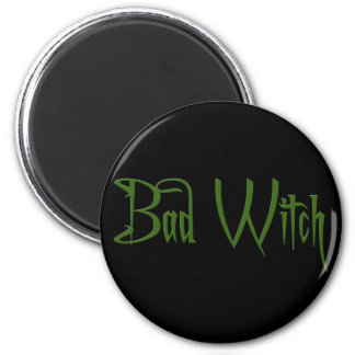 Bad Witch 6 Cm Round Magnet