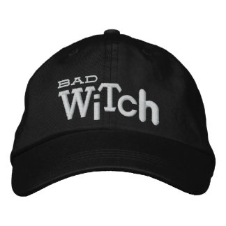 BAD WITCH Eclectic Style Halloween Embroidery Hat