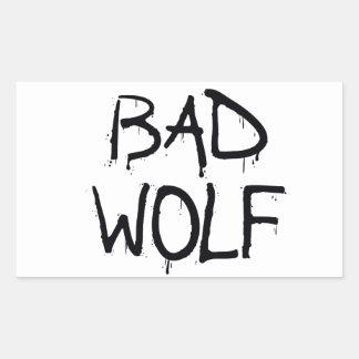 Bad Wolf Rectangle Sticker