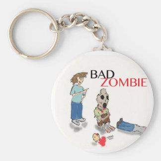 Bad Zombie Basic Round Button Key Ring
