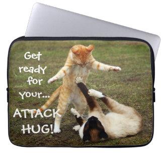 Badass Cats - Attack hug Laptop Sleeve