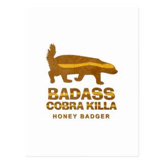 Badass Cobra Killa Honey Badger Postcards