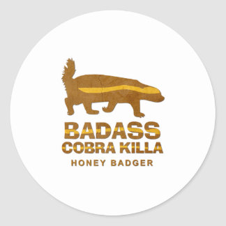 Badass Cobra Killa Honey Badger Stickers