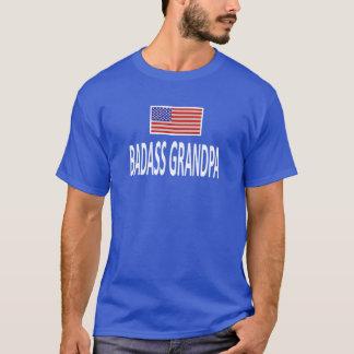 BADASS GRANDPA American Flag T-Shirt