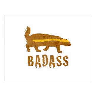 Badass Honey Badger - Vintage Post Cards