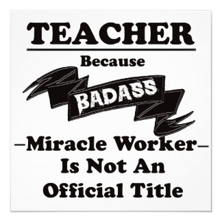 Badass Teacher Card