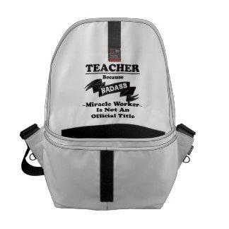 Badass Teacher Messenger Bag