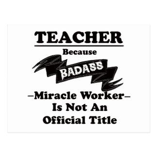 Badass Teacher Postcard