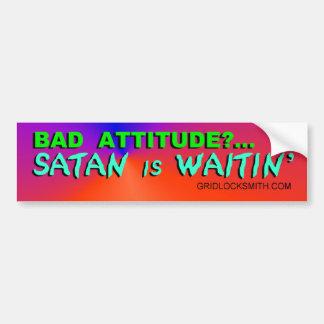 BadAttitude-SATAN Bumper Sticker