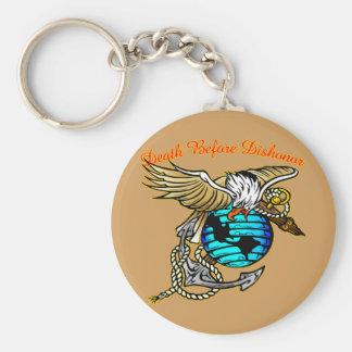 Badazz Eagle Death Before Dishonor Key Ring
