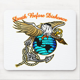 Badazz Eagle Death Before Dishonor Mouse Pad