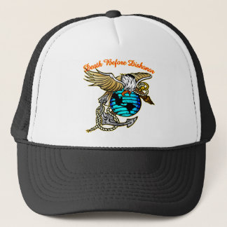 Badazz Eagle Death Before Dishonor Trucker Hat