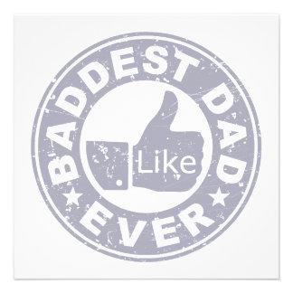 Baddest Dad Ever - Grey Invitation