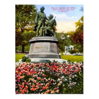 Baden bei Wien, Lanner-Strauss-Denkmal Postcard