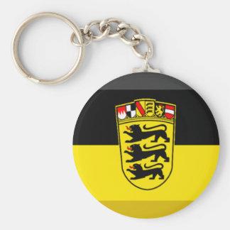 Baden-Wuerttemberg Flag Gem Keychain