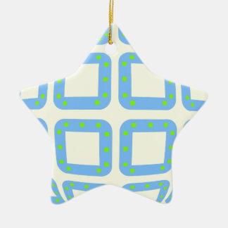 BADESD Sphere Ceramic Star Decoration