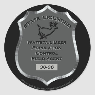Badge # 30-06 Whitetail Deer Field Agent,  Sticker