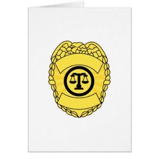 Badge Greeting Card