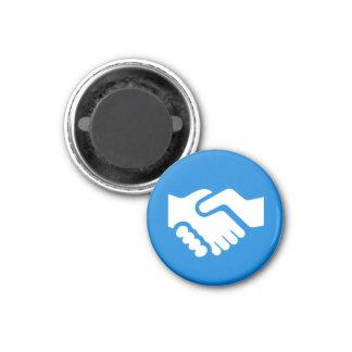 Badge Magnet - Handshake Fridge Magnet