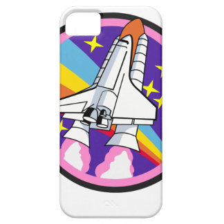 badge patch pink rainbow rocket case for the iPhone 5