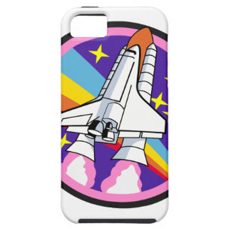 badge patch pink rainbow rocket iPhone 5 cases