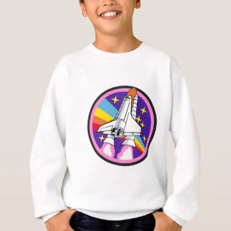 badge patch pink rainbow rocket sweatshirt
