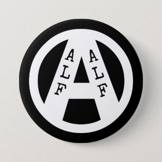 Badge with ALF symbol