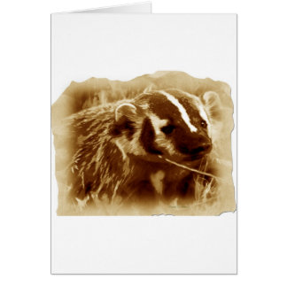 badger 1 greeting cards