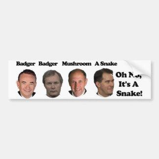 Badger Badger Mushroom Walker Bumper Sticker