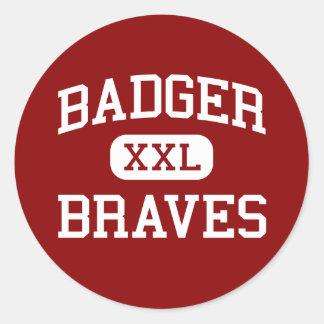 Badger - Braves - High School - Kinsman Ohio Sticker