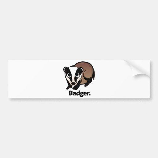 Badger. Bumper Sticker