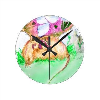 Badger Dragon Round Clock