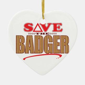 Badger Save Ceramic Heart Decoration