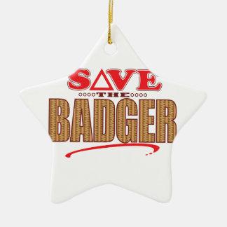 Badger Save Ceramic Star Decoration