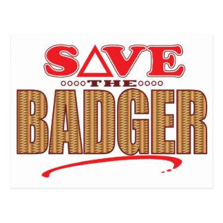 Badger Save Postcard