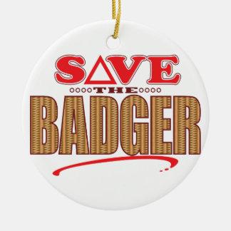 Badger Save Round Ceramic Decoration