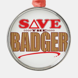 Badger Save Silver-Colored Round Decoration