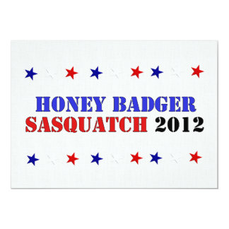 BADGER/SQUATCH TICKET 13 CM X 18 CM INVITATION CARD
