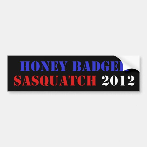 BADGER/SQUATCH TICKET BUMPER STICKER