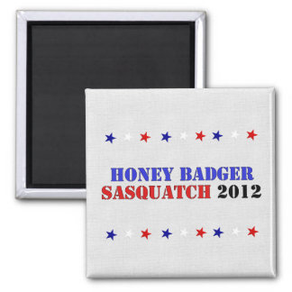 BADGER/SQUATCH TICKET SQUARE MAGNET