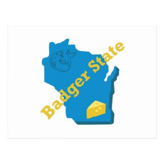 Badger State Postcard