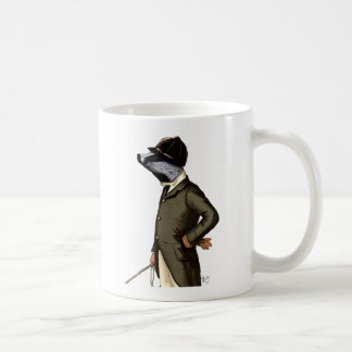 Badger The Rider Portrait Basic White Mug